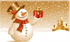 Navidad en la guardería acuarela